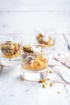 Quinoasalade met zoete aardappel en noten - Libelle Lekker Vegetarian Appetizers, Vegetarian Recipes, Cooking Recipes, Healthy Recipes, Tapas, Finger Foods, Food Inspiration, Love Food, Holiday Recipes