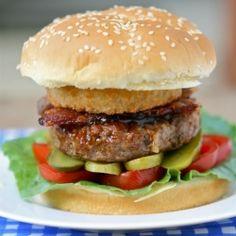 Onion Ring BBQ Bacon Burger