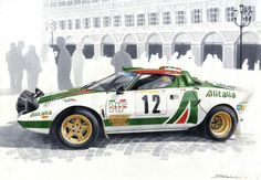 ランチアストラトス oil paint over latex - Oil Painting Car Illustration, Ferrari Car, Car Sketch, Car Drawings, Automotive Art, Car Painting, Rally Car, Copics, Art Cars