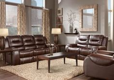 Baycliffe Brown 7 Pc Living Room