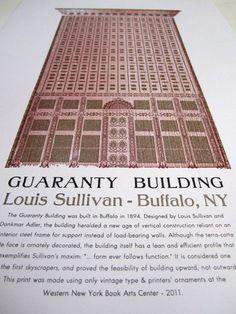 Guaranty Building Architecture Print- Louis Sullivan, Buffalo NY
