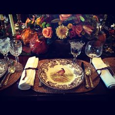 My mother-in-law can set a table. #thanksgiving #placesetting