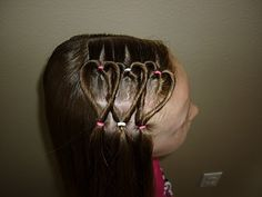 triple heart hairstyle