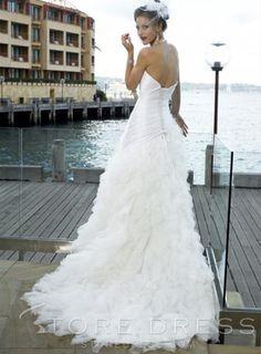 Elegant A-Line/Princess Sweetheart Floor-length Chapel Tulle Wedding Dress - Storedress.com