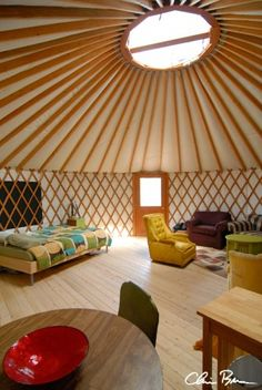 Definitely need one of these - mountain getaway. Yurts are cool.