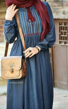 Abaya Fashion, Muslim Fashion, Modest Fashion, Fashion Dresses, Hijab Style, Hijab Chic, Modest Wear, Modest Outfits, Hijab Elegante