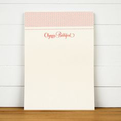 DAMASK Personalized Notepad by SilhouetteBlue on Etsy