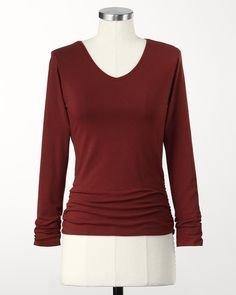 Ruched side tee