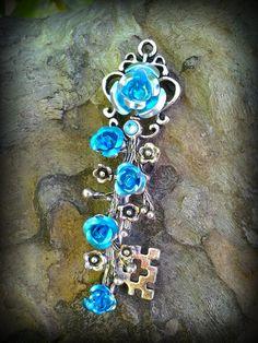 Spring Blossom Fantasy Key Sky Blue by ArtbyStarlaMoore on Etsy, $15.00