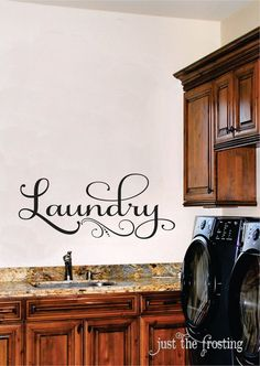 Laundry Wall Decal Laundry Room Vinyl Wall Art by JustTheFrosting, $15.00