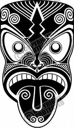 Maori Mask, New Zealand -Hoping to see IT in person. Maori Tattoo Patterns, Maori Patterns, Tiki Tattoo, Arte Tribal, Tribal Art, Mask Drawing, Polynesian Art, Maori Designs, Tatoo
