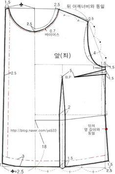 여자 무령의 : 네이버 블로그 Clothing Patterns, Sewing Patterns, Chart, Blouse, How To Wear, Clothes, Design, Blouse Patterns, Shirts