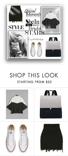 """style"" by sansa-996 ❤ liked on Polyvore featuring WithChic, Converse and WALL"