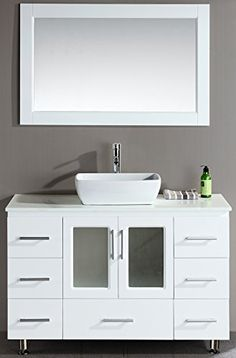 Design Element Stanton Single Vessel Sink Vanity Set with White Finish, 48-Inch Design Element http://www.amazon.com/dp/B00DZVGOMY/ref=cm_sw_r_pi_dp_4mZEvb0Y0BCP6