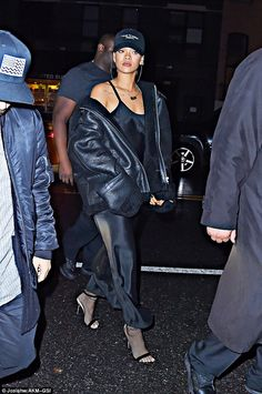 Still going strong: Rihanna and Travis proved they are still very much an item as the sing...