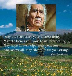 The wisdom of Chief Dan George. Native American Prayers, Native American Spirituality, Native American Wisdom, Native American History, American Indians, Indiana, Indian Prayer, American Indian Quotes, American Art