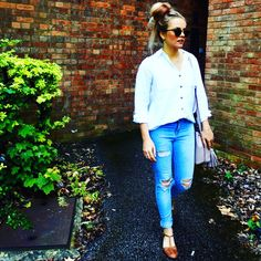 One item styled 4 ways series – ripped skinny jeans! Ripped Skinny Jeans, Denim Jeans, Chic, Tops, Women, Style, Fashion, Shabby Chic, Swag