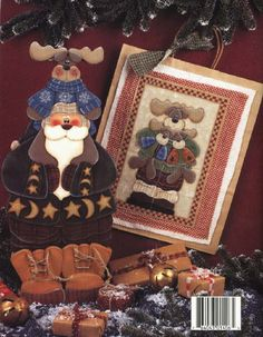 Album Archive - A North woods Christmas Decorative Painting Projects, Tole Painting Patterns, Craft Patterns, Paint Patterns, Beaded Christmas Ornaments, Christmas Crafts, Painted Books, Hand Painted, Book Crafts