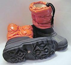 Schuhe Stiefel Schneestiefel Winter Unisex Orange/Schwarz gefüttert Gr. 27/28