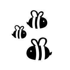 bee silhouette - Google zoeken Machine Silhouette Portrait, Bee Silhouette, Silhouette Clip Art, Silhouette Cameo Projects, Silhouette Design, Bee Stencil, Stencils, Vinyl Crafts, Vinyl Projects