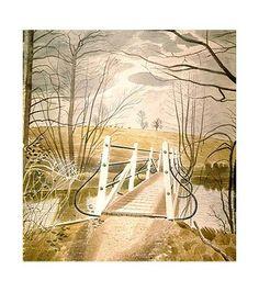 Giclee Print: Iron Bridge at Ewenbridge, 1942 by Eric Ravilious : Landscape Art, Landscape Paintings, Landscapes, Landscape Posters, Nostalgia, Online Art Gallery, Giclee Print, Nature, Scenery