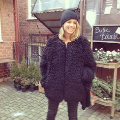 beanie + coat