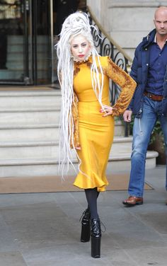 Lady Gaga yellow and dreads