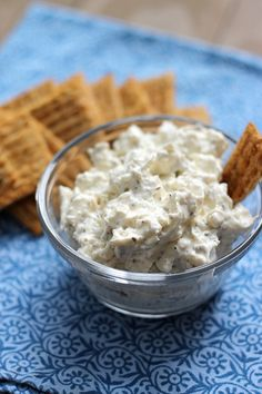 Creamy Herb Feta Dip, quick, easy, perfect for a party or afternoon snack!