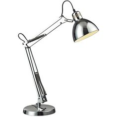 Dimond Lighting Dimond Ingleside Chrome Desk Lamp ($178) ❤ liked on Polyvore featuring home, lighting, desk lamps, dimond lighting, chrome lighting, chrome lamp, dimond lamps and chrome desk lamp