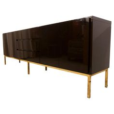 *Brown Lacquer, but expensive, + shipping from Amsterdam. High Gloss Lacquered Credenza Sideboard by Jean Claude Mahey for Roche Bobois French Sideboard, Large Sideboard, Vintage Sideboard, Wood Sideboard, Modern Sideboard, Credenza, Vintage Furniture, Modern Furniture, Dark Brown Color