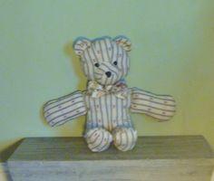 Fabric Country Bear Stuffed Animal/Toy by CedarFairHome on Etsy