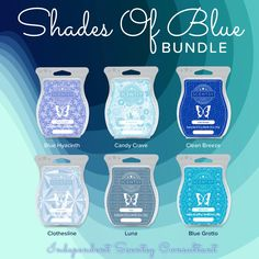 Shades of Blue bundle. 6 bars in various shades of blue. Buy 5 bars get your 6th free. 6 bars for $30.