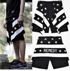 New 2014 Men's Fashion Shorts American Flag Print Pyrex Cotton Hip Hop Shorts Givency Brand Short Pants