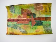 mixed media collage on canvas