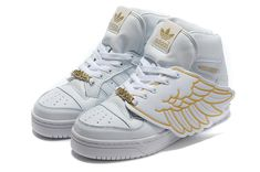 Mujeres Adidas Originals Jeremy Scott Wings Zapatos Blanco / Oro
