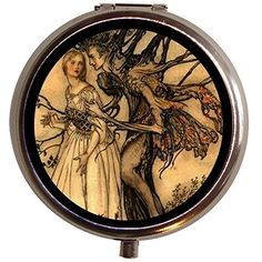 $7.50 Surreal Illus Tree Man & Woman Goth Pill Case Box | eBay