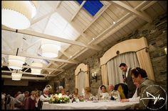 Wedding speeches in Ballymagarvey Village, Co Meath, Ireland  --- Photographs by Dylan McBurney