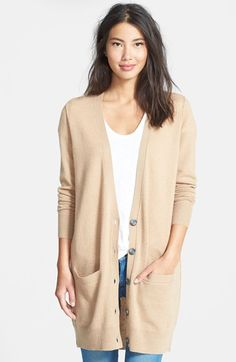 Halogen® Long Cashmere Cardigan (Regular & Petite) available at #Nordstrom