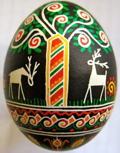 Deer designs were very prevalent as they were intended to bring prosperity and long life; the stag represents leadership, victory, joy and masculinity.  Trees symbolized strength, renewal, creation, growth and eternal life.  The black background symbolizes  constancy or eternity, the center of the Earth, and the darkest time before dawn.