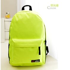 Cheap backpack school, Buy Quality school directly from China backpack pro Suppliers: 2016 Neon Green School Backpacks For Teenage Latest Girl Backpack Waterproof Canvas Shou