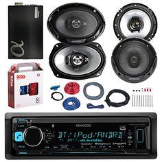 "Kenwood KMMBT315U Bluetooth Car radio stereo Receiver Bundle Combo With 2x 300W 6.5"" 2-Way Car Audio Speakers + 2x 6x9"" 3-Way Stereo Speaker + 1600 Watt Class A/B Amplifier + Boss 8g Amp Install Kit - http://www.caraccessoriesonlinemarket.com/kenwood-kmmbt315u-bluetooth-car-radio-stereo-receiver-bundle-combo-with-2x-300w-6-5-2-way-car-audio-speakers-2x-6x9-3-way-stereo-speaker-1600-watt-class-ab-amplifier-boss-8g-amp-install-kit/"