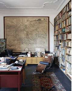 You could also buy a big map of your favorite something to fill the space of one wall.
