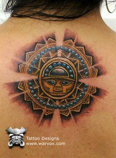 Silver Sun Tattoo » ₪ AZTEC TATTOOS ₪ Aztec Mayan Inca Tattoo Designs Instant Download