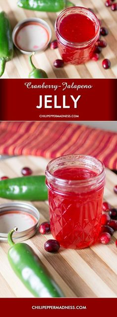 Cranberry-Jalapeno Jelly. This Cranberry Jelly recipe will spice up ...