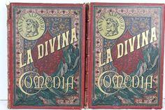 """todocoleccion: Libro antiguo, """"La divina comedia"""" de Dante Alighieri. Ilustrada por Gustavo Doré. Montaner y Simon. 1884."""
