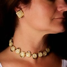 """Vintage Coro Yellow Confetti Necklace and Earrings. Gorgeous set in wonderful condition. the necklace measures 12 1/2"""" long with a 3 1/2"""" long extender chain. The earrings measure 1"""" x 3/4"""" This is a gorgeous set to add to your collection. https://www.etsy.com/listing/170428020/vintage-coro-yellow-confetti-necklace?ref=shop_home_active_1"""