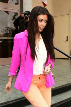Kim K. Obsessed With Bright Blazers