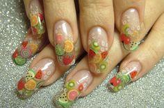 fruit fimo nail art - Google Search