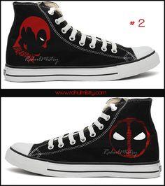 b1e5e40a9de275 Marvel Deadpool Hand-painted Converse Shoes by RahulMistry on Etsy Converse  Men