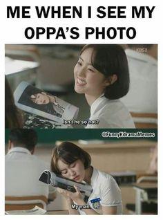 My oppa 😚😚 Kdrama Memes, Funny Kpop Memes, Bts Memes, Funny Quotes, Korean Drama Funny, Korean Drama Quotes, K Pop, Drama Fever, Drama Drama